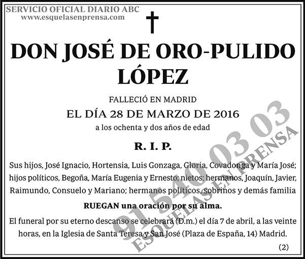 José de Oro-Pulido López